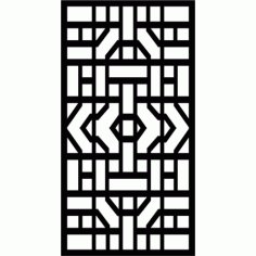 Cnc Panel Laser Cut Pattern File cn-l609 Free CDR Vectors Art