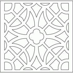 Cnc Panel Laser Cut Pattern File cn-l607 Free CDR Vectors Art