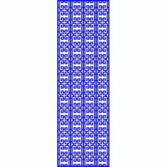 Cnc Panel Laser Cut Pattern File cn-l601 Free CDR Vectors Art