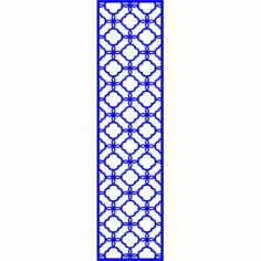 Cnc Panel Laser Cut Pattern File cn-l591 Free CDR Vectors Art