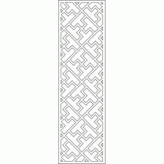 Cnc Panel Laser Cut Pattern File cn-l582 Free CDR Vectors Art