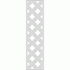 Cnc Panel Laser Cut Pattern File cn-l578 Free CDR Vectors Art