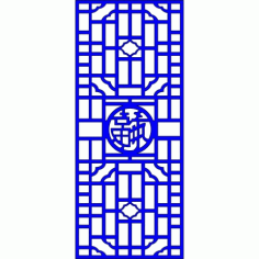 Cnc Panel Laser Cut Pattern File cn-l524 Free CDR Vectors Art