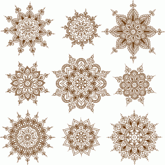 Vector Illustration Of Mehndi Ornaments Free CDR Vectors Art