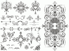 Wedding Floral Lace Pattern Free CDR Vectors Art