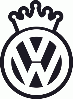 VW King Decal Sticker Free CDR Vectors Art