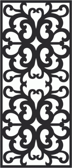 Scroll saw vector pattern Free CDR Vectors Art
