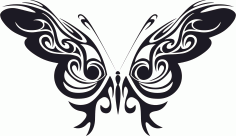Tribal Butterfly Free CDR Vectors Art