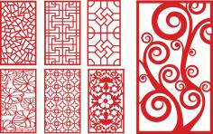 Laser Cut Decorative Panels Decorative Free CDR Vectors Art