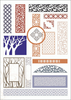 Decorative panels Free CDR Vectors Art