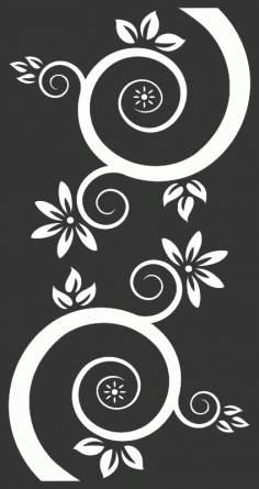 Vector Flowers And Swirls Black Free CDR Vectors Art