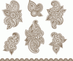Illustration Of Mehndi Ornament Free CDR Vectors Art