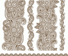 Illustration Of Mehndi Free CDR Vectors Art