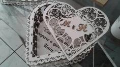 Serdtse Ozhurnoe Laser Cut Heart Shape Box Free CDR Vectors Art