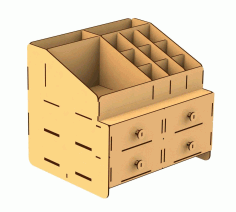 Somod Wooden Storage Box Laser Cut Free CDR Vectors Art