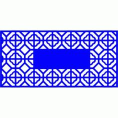 Cnc Panel Laser Cut Pattern File cn-l487 Free CDR Vectors Art