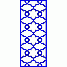 Cnc Panel Laser Cut Pattern File cn-l486 Free CDR Vectors Art