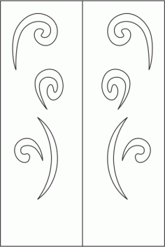 Elegant Wardrobe Door Design Free CDR Vectors Art
