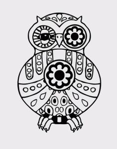 Owl Mandala Free CDR Vectors Art