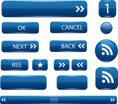 Ui Buttons Free CDR Vectors Art
