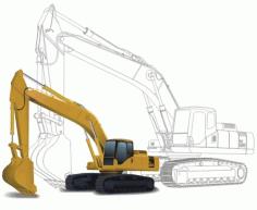 Excavator Clip Art Free CDR Vectors Art