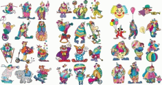 Clown Set Clip Art Free CDR Vectors Art