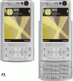 Mobile Phone Clipart n95 Free CDR Vectors Art