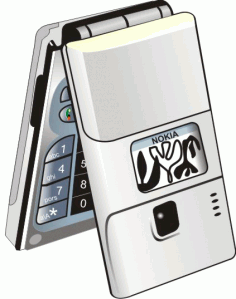 Mobile Phone Clipart Nokia Silver Free CDR Vectors Art