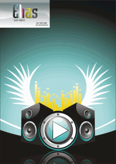 Music Theme Clip Art Caixas De Som Free CDR Vectors Art