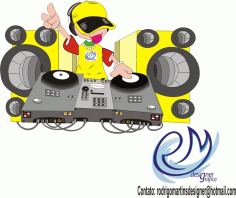 Music Theme Clip Art Dj Free CDR Vectors Art
