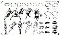 Super Heroes Clip Art Free CDR Vectors Art