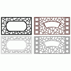 Cnc Panel Laser Cut Pattern File cn-l457 Free CDR Vectors Art
