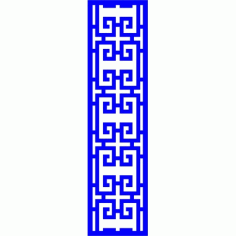 Cnc Panel Laser Cut Pattern File cn-l433 Free CDR Vectors Art