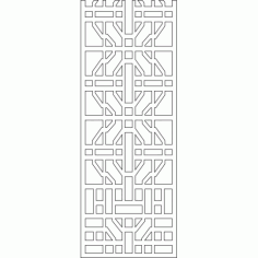Cnc Panel Laser Cut Pattern File cn-l426 Free CDR Vectors Art