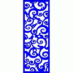 Cnc Panel Laser Cut Pattern File cn-l364 Free CDR Vectors Art