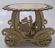 Laser Cut boleira-carroagem Free CDR Vectors Art