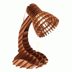 Wooden Desk Lamp Laser Cut Free CDR Vectors Art
