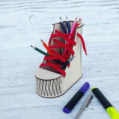 Boot Desk Organizer Pen Pencil Holder Free CDR Vectors Art