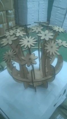 Centrodemesa Wooden Flower Free CDR Vectors Art