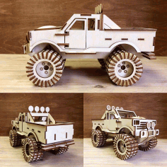Monster Truck Wooden Free CDR Vectors Art