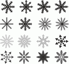 Snowflakes Design Free CDR Vectors Art