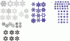 Snowflakes Pack Free CDR Vectors Art