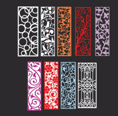 Ornamental pattern collection Free CDR Vectors Art