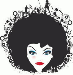 Woman Face Illustration 333 Free CDR Vectors Art