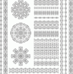 Ethnic Pattern Set Free CDR Vectors Art