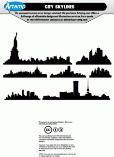 City Buildings Skylines Free CDR Vectors Art