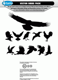 Birds Silhouettes Download Free CDR Vectors Art