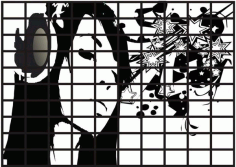Black and white LCD TVs Free CDR Vectors Art