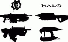 Halo, Gears Weapons Free CDR Vectors Art