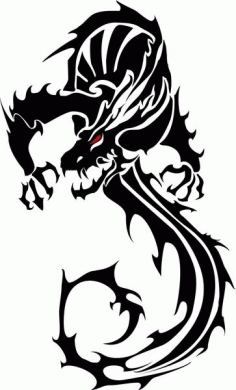 Black Dragon Free CDR Vectors Art